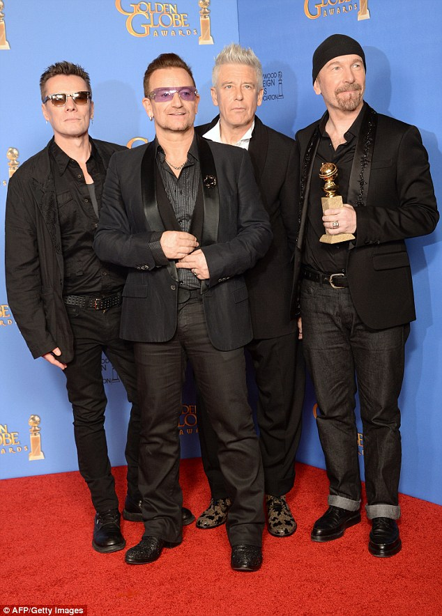 U2 on the red carpet