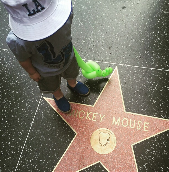 Ollie got to meet his favourite cartoon character - Mickey Mouse!