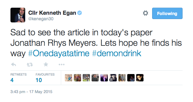 Many took to Twitter to voice their support for the star, including boxer Kenny Egan