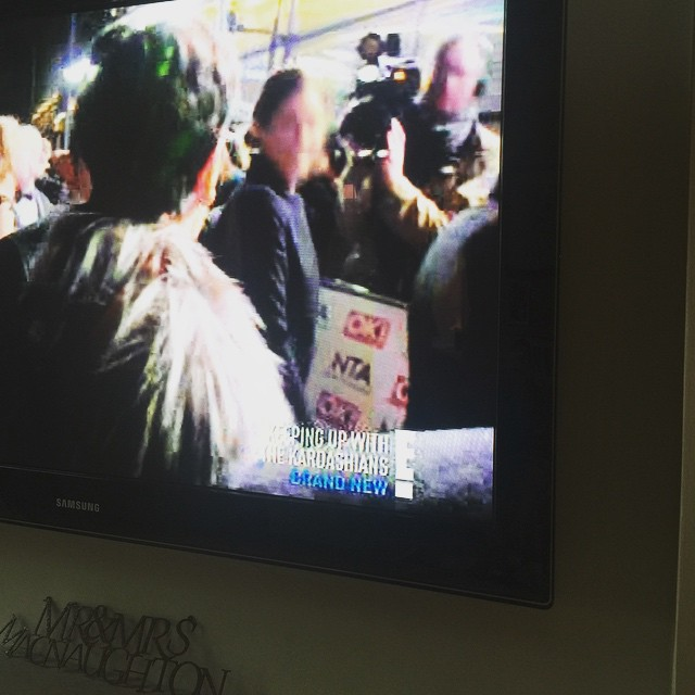 Glenda shared this snap of her tv appearance on E!