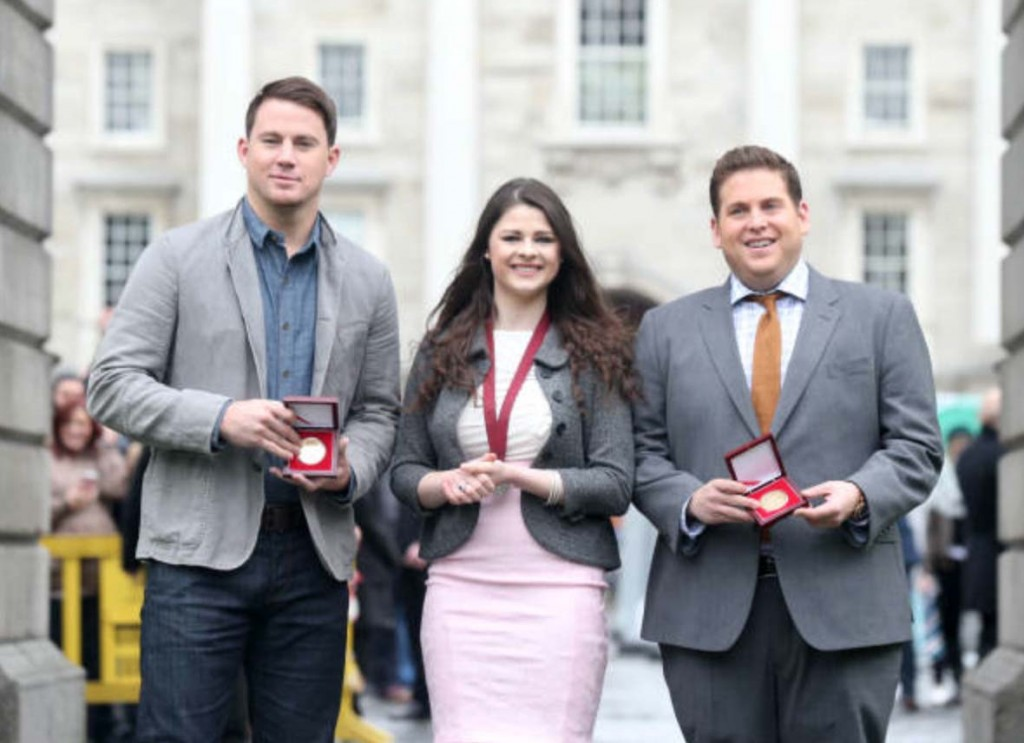 Channing Tatum and Jonah Hill were awarded medals from TCD's Philosophical Society