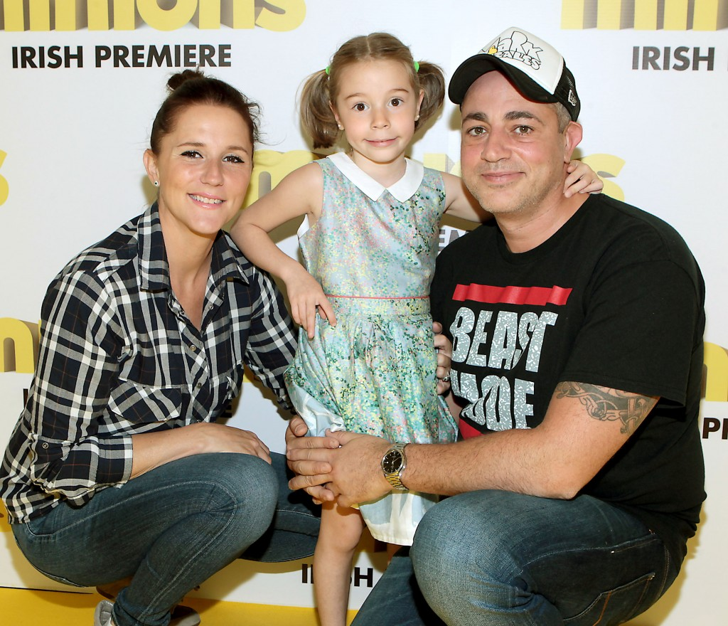 Baz Ashmawy with Tanja and daughter Hannah