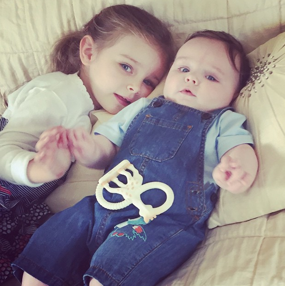 The couple's kids are totally gorgeous - no surprise there!