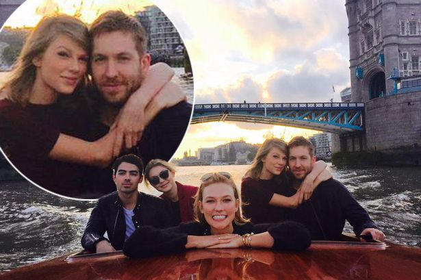 Taylor and Calvin are very much loved-up