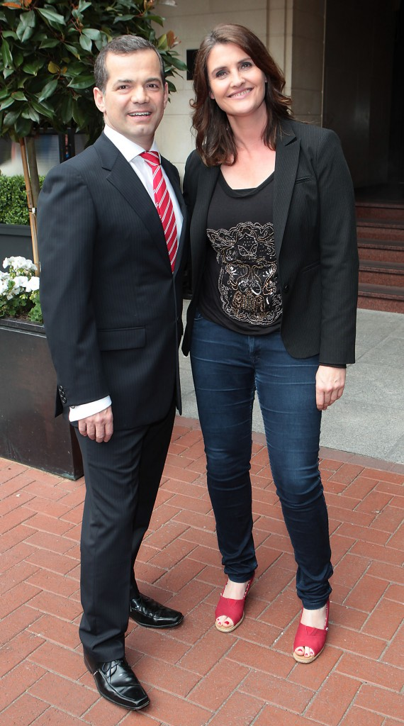 John Healy and Anna Nolan were at THE westbury Hotel yesterday for the big news| Brian McEvoy