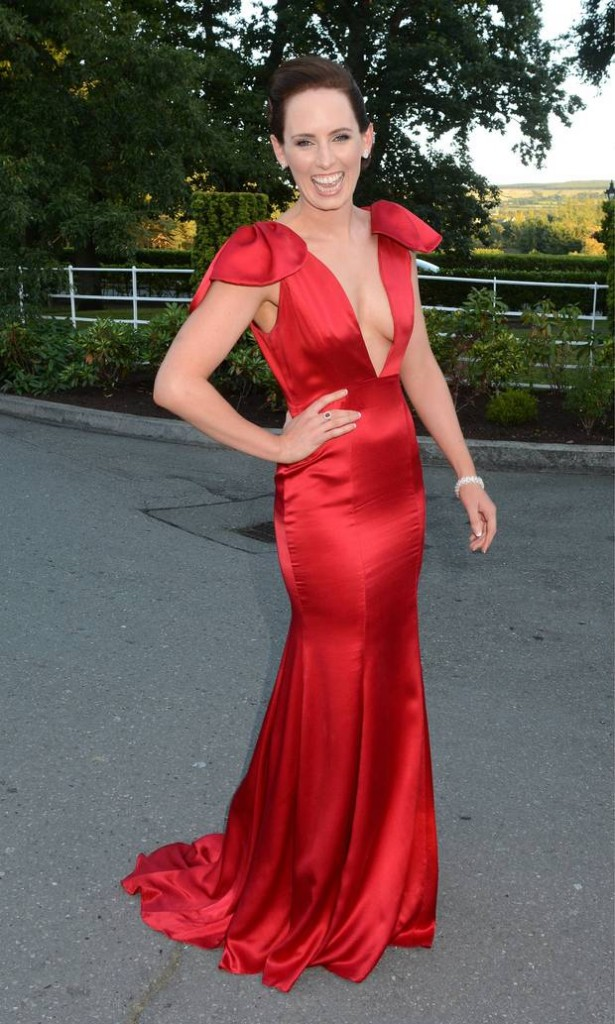 Lady in Red, Aoibheann. She won't be needing that dress where she's going