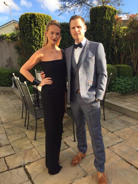 Cute couple Aoibhin and John as they made their way to the Style Awards in April