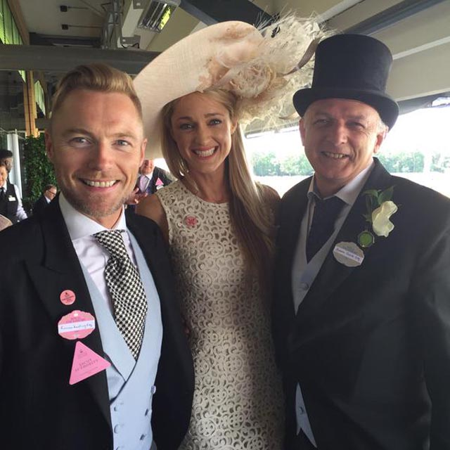Ronan and Storm arrive at Ascot in style