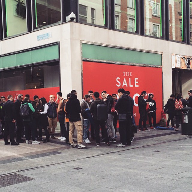 People hoping to get their hands on a pair of Kayne's new shoes