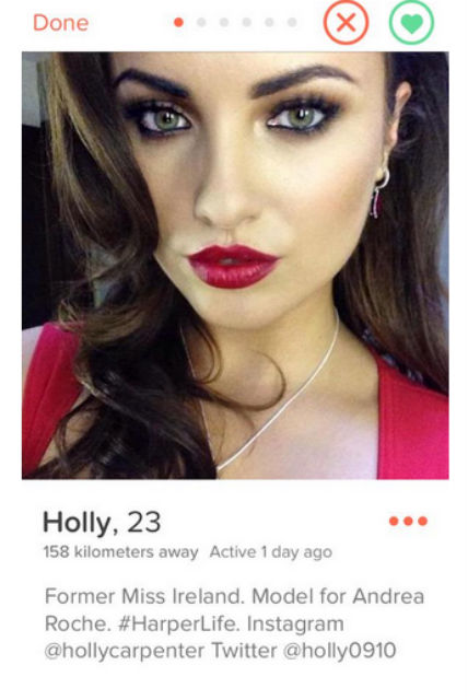The fake account which has been impersonating Holly online