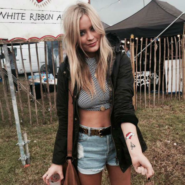 Laura is festival ready