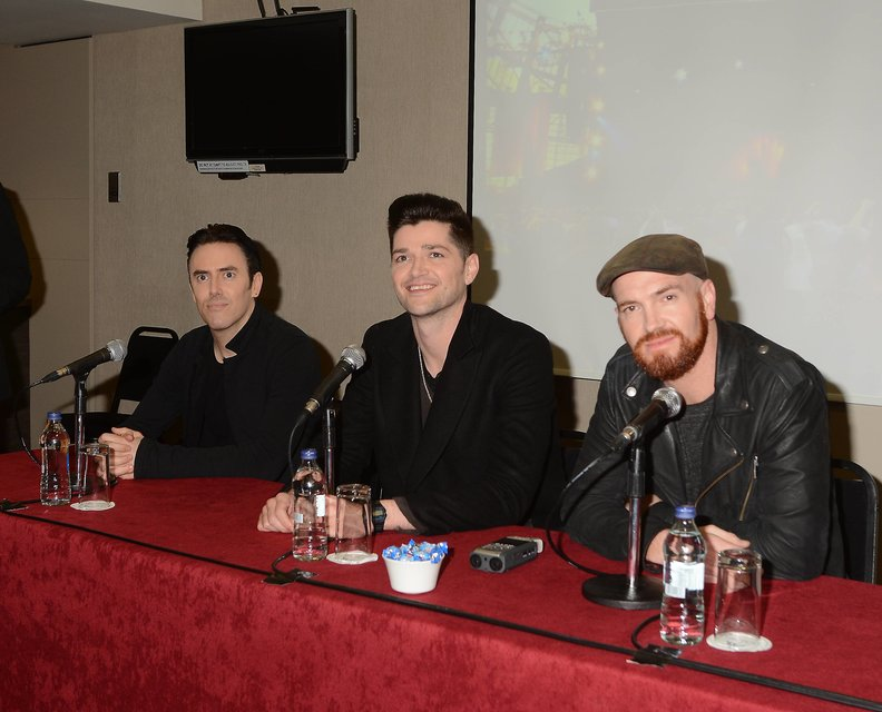 The Script announcing news of their concert