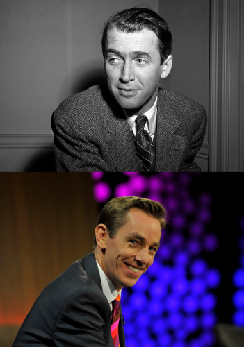 Ryan and fave actor, James Stewart