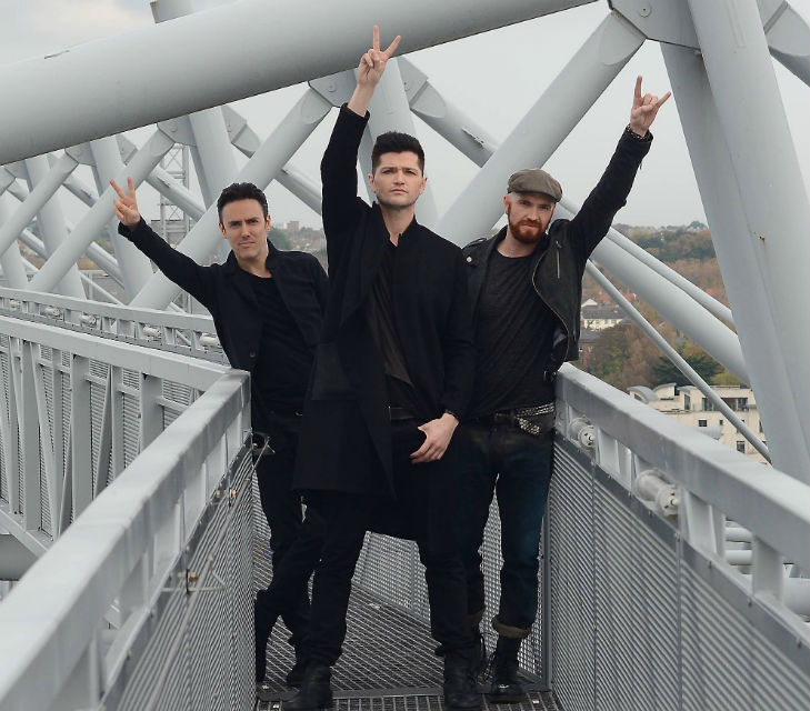 The Script standing at the top of Croke Park where they'll play this evening