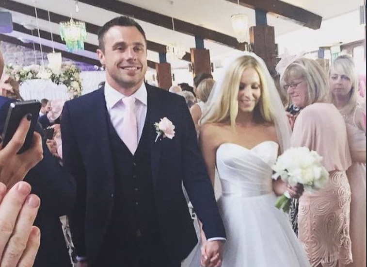 Tommy and Lucy on their stunning wedding day
