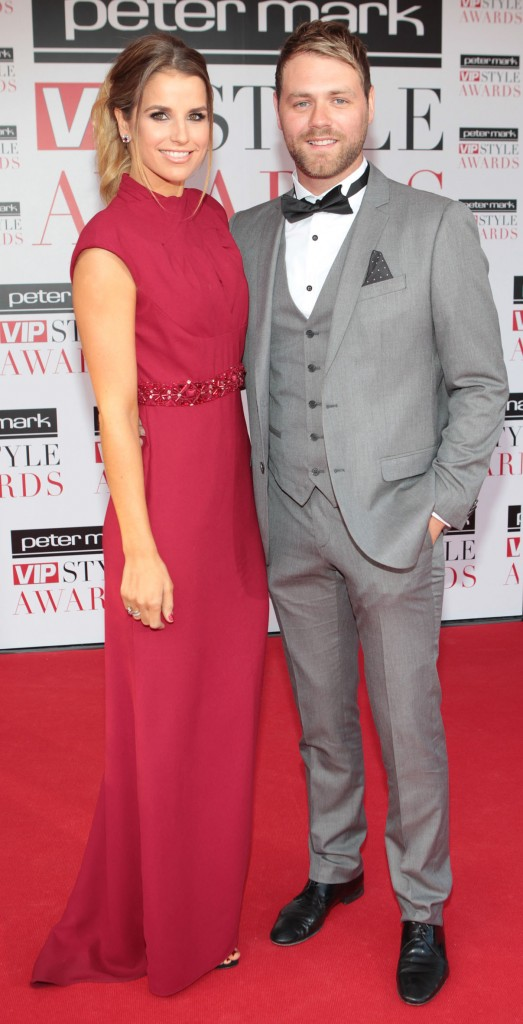 Vogue and Brian arrive at the Peter Mark VIP Style Awards 2013