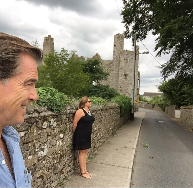 The James Bond star also shared this selfie of the pair!