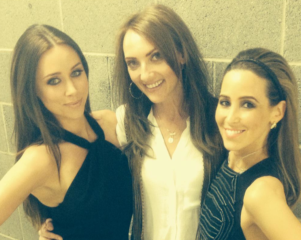 Ingrid, pictured here with Una Foden and Rachel Stevens, was behind the look!