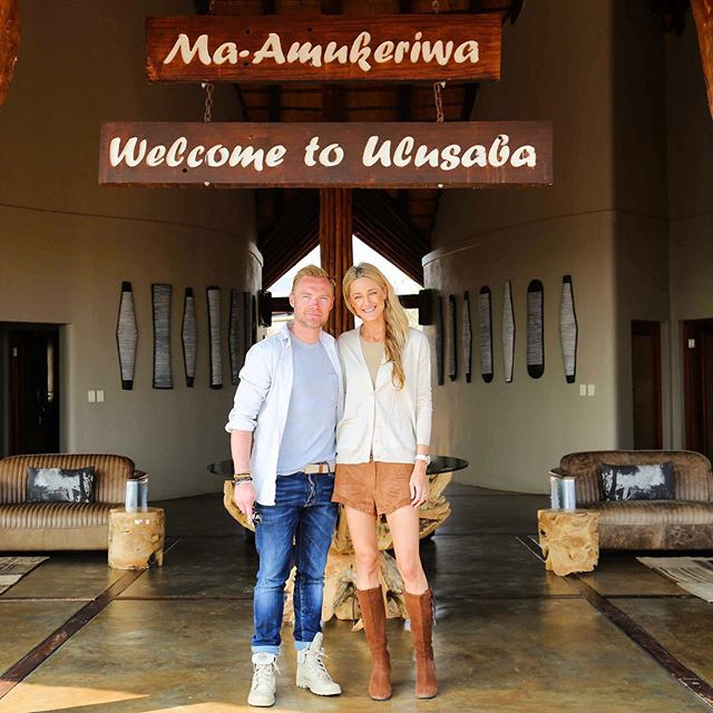 The couple arrived in Africa shortly after tying the knot