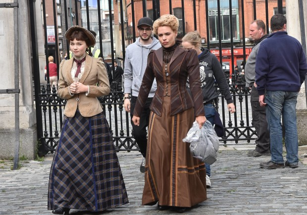 Billie Piper on Penny Dreadful set at Dublin Castle