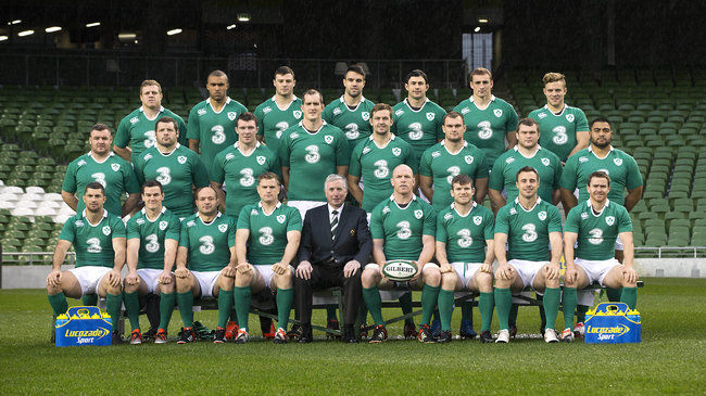 Irish Rugby squad at Aviva Stadium Mandatory Credit ©INPHO/Billy Stickland