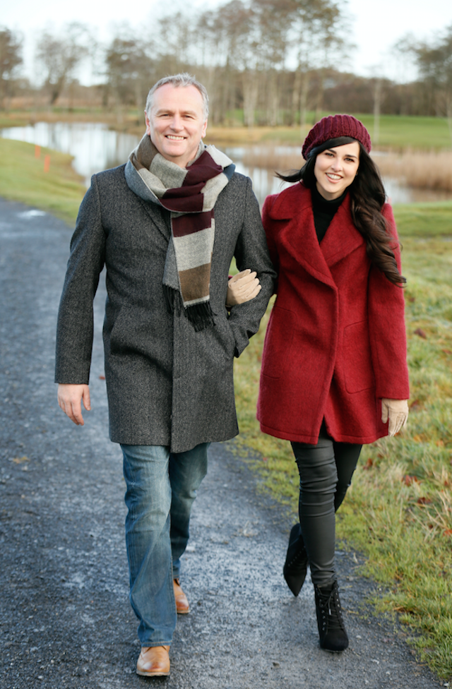 Daithi and his lovely wife Rita during a recent VIP shoot