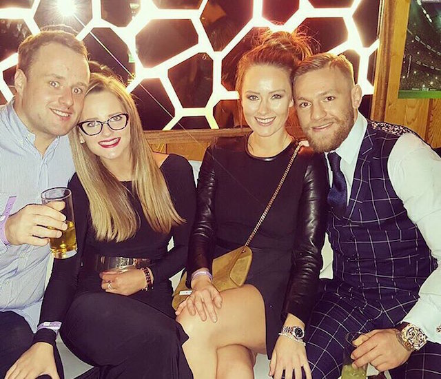 There it is, Dee's hand on Conor's knee