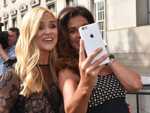 Karen and Glenda snapping a selfie at the TV3 launch last week. PIC: VIP Ireland