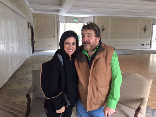 Lucy moves in with Brendan Grace this week!