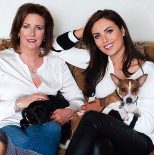 Holly with her glamorous mum in a recent VIP shoot.