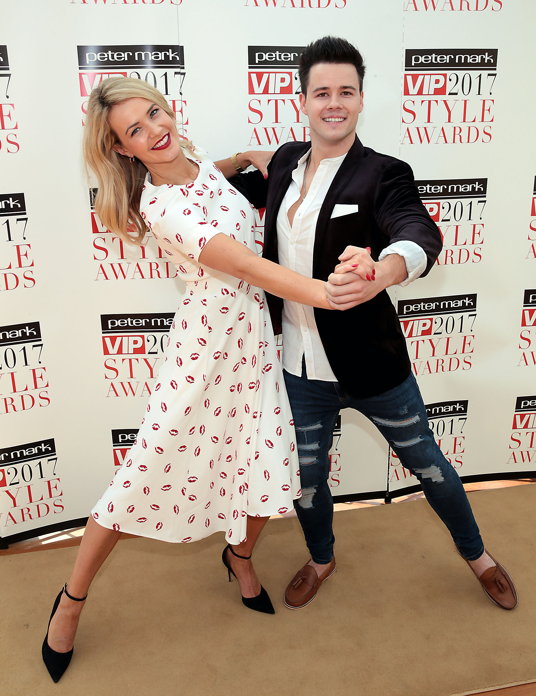 Dayl Cronin and Aoibhin Garrihy were practising their dance moves