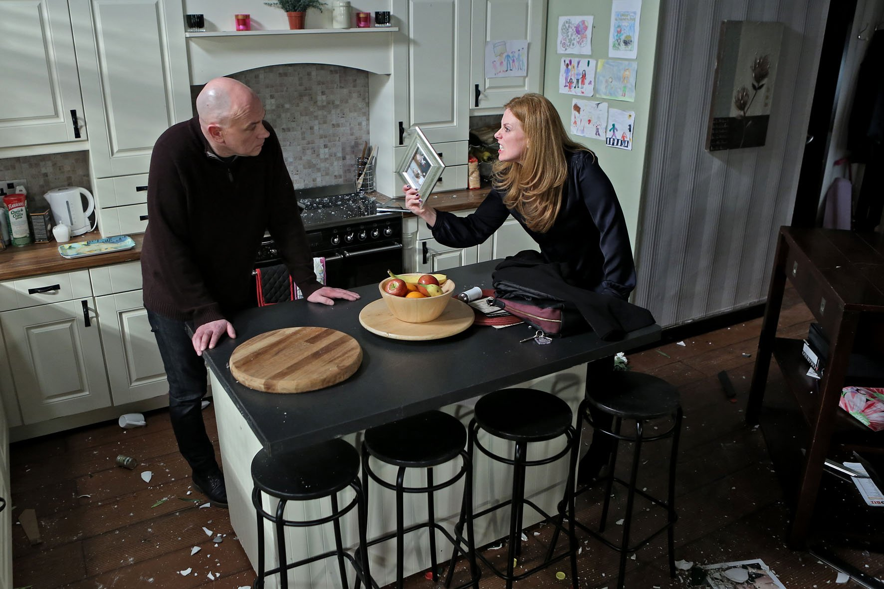 Paul and Niamh came to blows last week PIC: Fair City Twitter