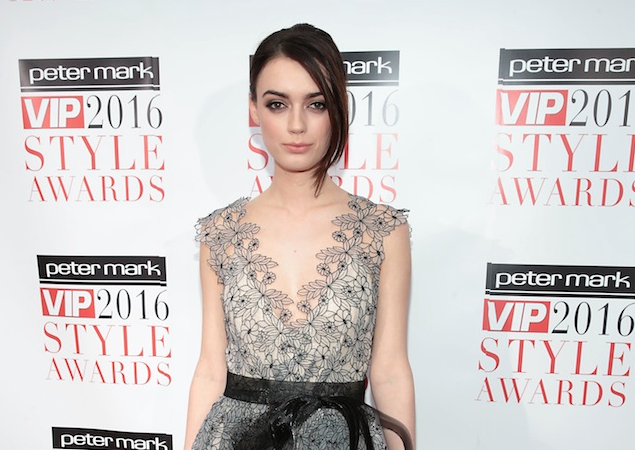 Model Jo Archbold nailed the low cut up do at last year's Peter Mark VIP Style Awards. PIC: Brian McEvoy
