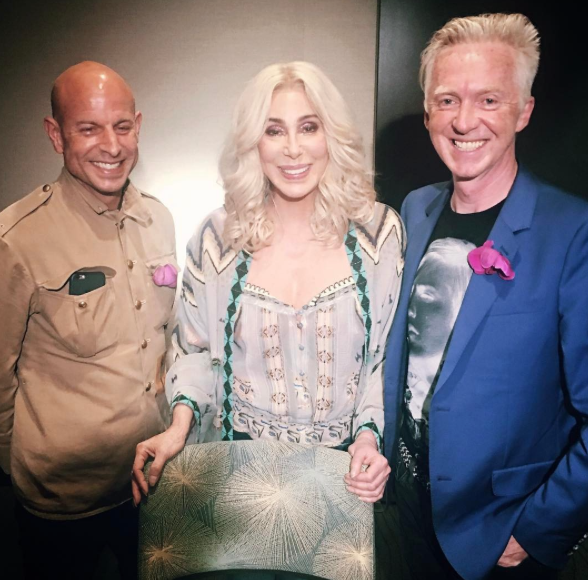 The happy couple and Cher