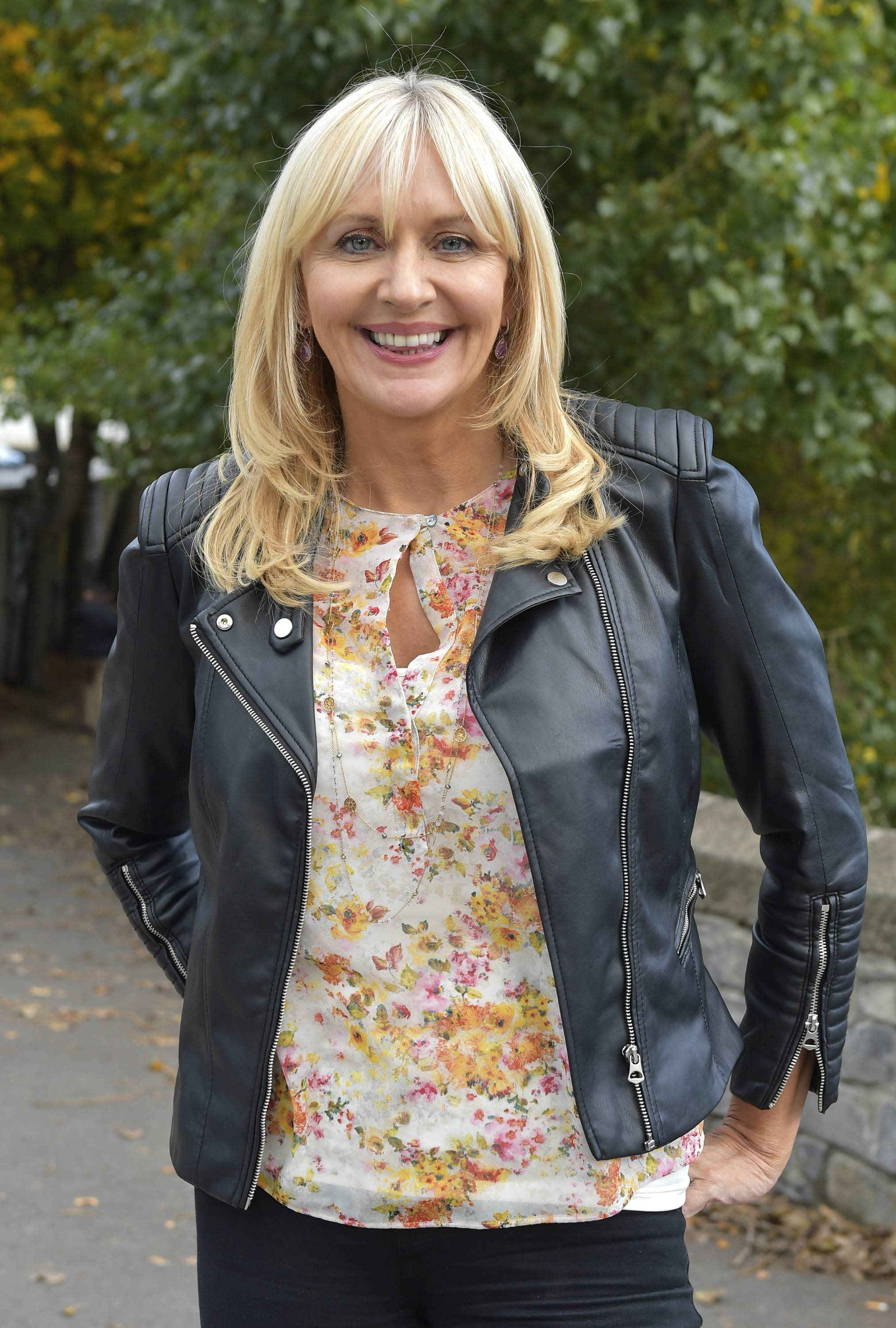 Miriam O'Callaghan seen filming for Prime Time