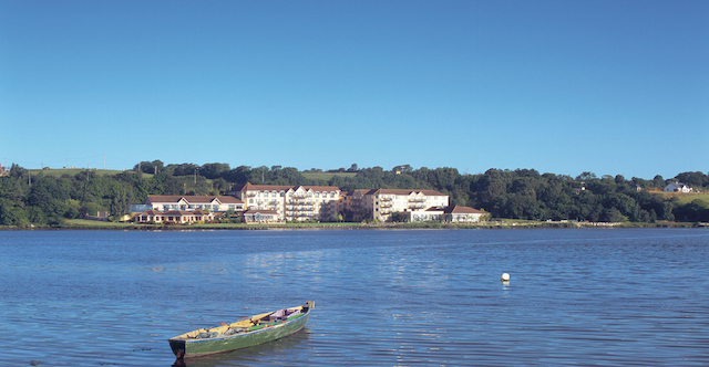 Ferrycarrig Hotel across the river