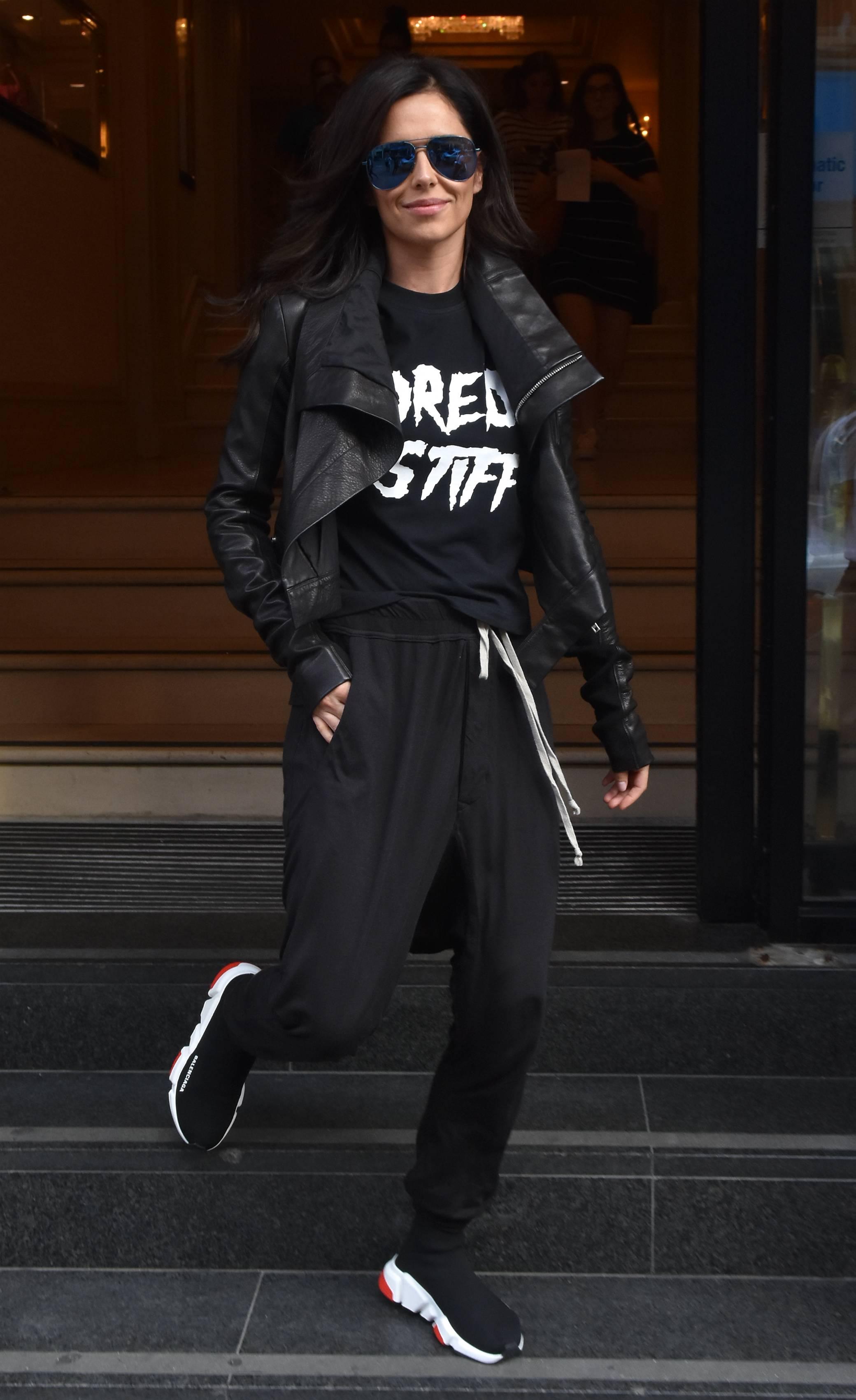 Cheryl Cole Seen Leaving Her Dublin Hotel