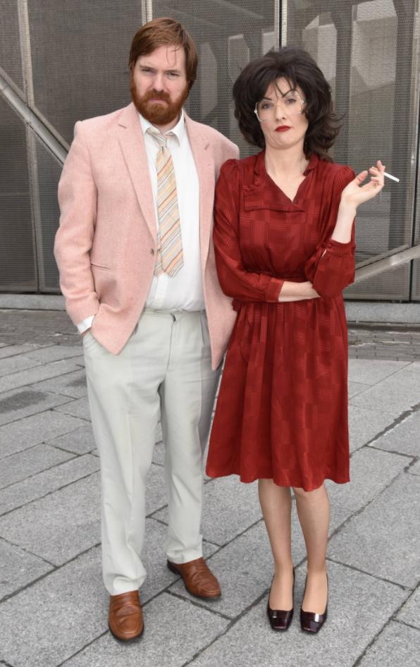 Bernard with his onscreen 'Bridget and Eamon' wife Jennifer Zamparelli