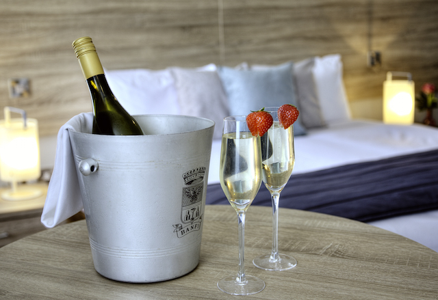 Sandymount Hotel Bedroom with Bubbles