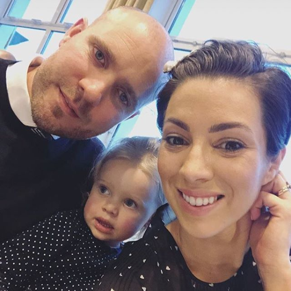 Georgia with Pia and husband Jamie
