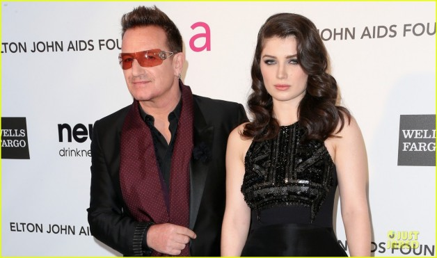 CRINGE! Bonos daughter Eve Hewson forced him to watch her