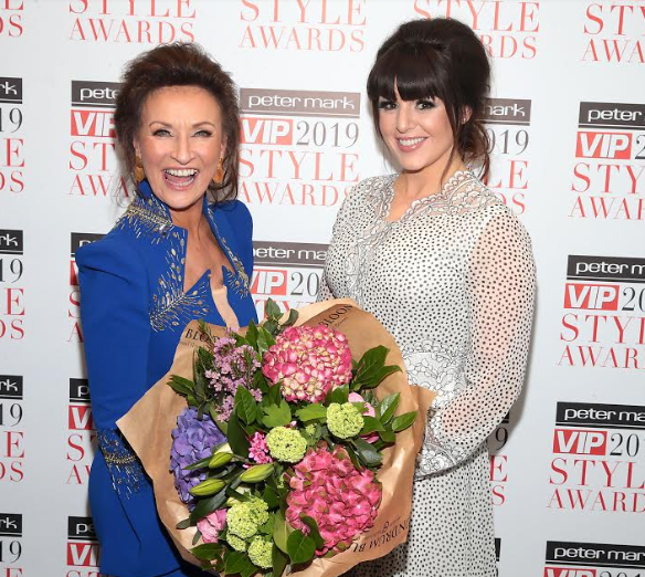 Celia presented the award for Most Stylish At The Marker to the fabulous Sile Seoige