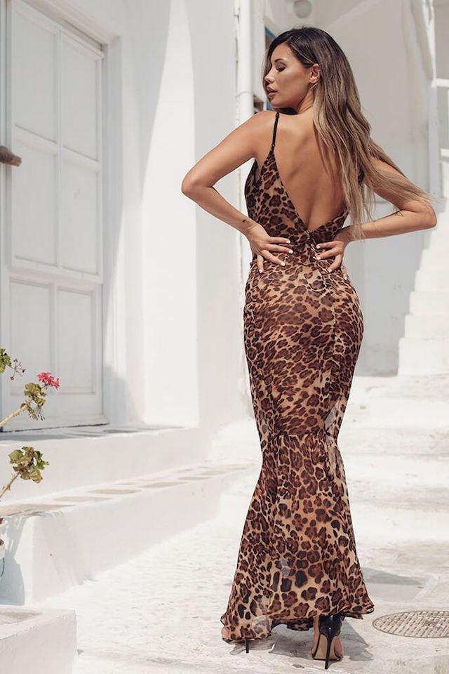I Saw It First Brown Leopard Print Maxi Dress €19.95