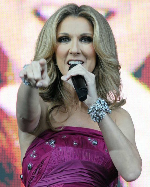 Celine Dion appears as surprise wedding singer at small