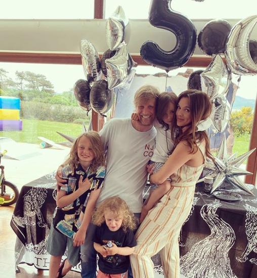 Kian Egan And Wife, Jodi Albert Celebrate Their Son's