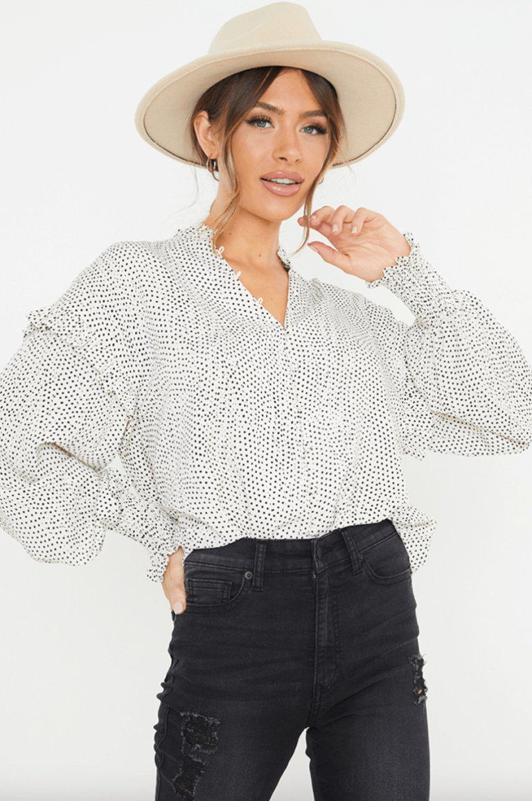 Steal her Style: Lisa Jordans pretty polka dot top - VIP